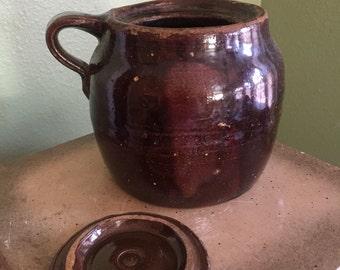 Antique Baked beans stoneware crock