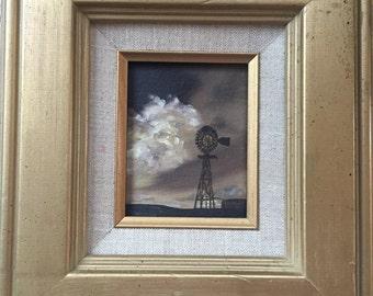 Terry Branham texas oil rig painting