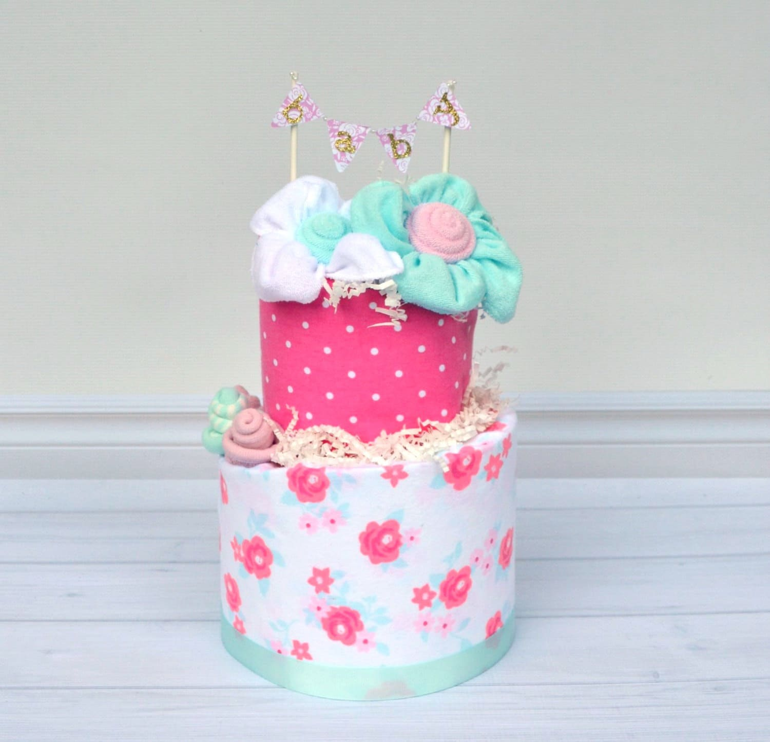 Shabby Chic Baby Shower Shabby Chic Diaper Cake Floral Baby