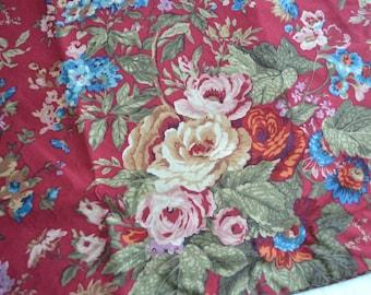 Ralph Lauren Chaps Pillow Shams - Red Cottage Floral - NOS Pair