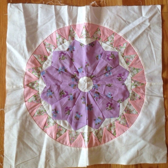 Vintage Dresden Plate Quilt Square By Contemporaryvintage