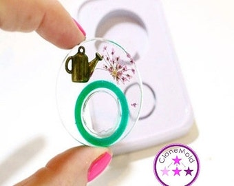 25% SALE NEW 2 Piece Circle Double Ring Mold