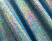 NEW - Turquoise Blue Hologram MIRROR Dot Spandex Fabric