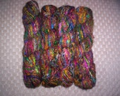 Multi-Color (Thirteen): Handspun multi-color Mixed Sari Silk Yarn (Recycled)