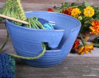 Blue Sky Yarn Keeper Ceramic Crochet Yarn Bowl