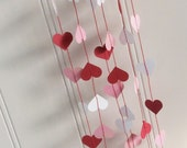 Pink & Red Heart Garland Pink Red White
