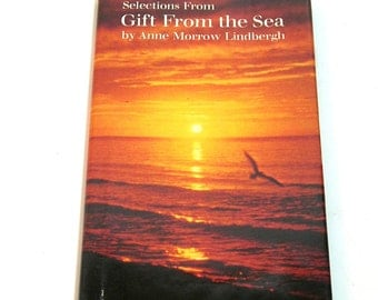 Selections from Gift From the Sea by Anne Morrow Lindbergh, Vintage Hallmark Gift Book