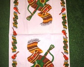 OLE! Vintage Mexican Theme Kitchen Towel Dish Cloth