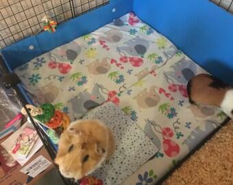 UHaul Pad Mats, Pee Pads, Set of 2, Hedgehog mats, Guinea pig pads, Flippers, Cavy mats,