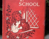 Dotty Dimple at School, Sophie May, Victorian Book, Vintage Hardcover, 1910 Red Antique Hardback, Childrens Vintage Book