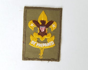 Vintage Green Boy Scout  Eagle Be Prepared Patch