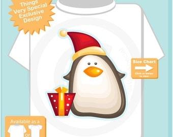 Christmas Penguin Shirt, Family Photo Christmas Shirt, Christmas T-Shirt or Onesie 10202015j