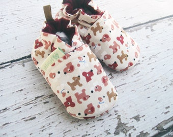 Classic My Best Friend in Pink / All Fabric Soft Sole Baby Shoes / Made to Order / Babies