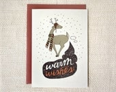 Funny Christmas Card - Warm Wishes