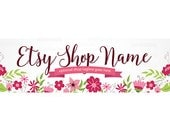 Etsy Shop Banner - Etsy Cover Photo - Floral Etsy Banner Covers - Pink Etsy Covers  - Etsy Shop Cover Photo - Floral 3-16