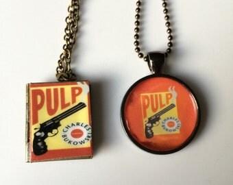 Handmade Charle's Bukiwski's Pulp Mini Locket Necklace