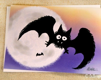 Vampire Bat Illustration Greeting Card - Strigoi the Vampire Bat