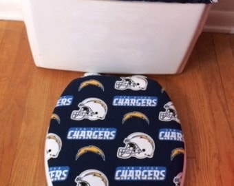 San Diego Chargers Toilet Seat Cover and Tank Lid Cover Set