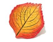 Leaf Spoon Rest, Hydrangea Leaf Dish