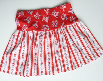 Red Bouquet layered skirt for girls sizes 6 mos. - 8 years