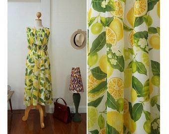 1950s chiffon dress / Asian vintage dress