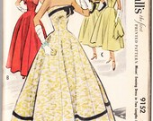 Vintage 1952 McCall's 9152 Sewing Pattern Misses' Evening Dress in Two Lengths and Bolero Size 16 Bust 34