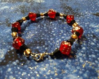 Red Dice Bracelet