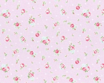 Princess Rose 2015   Cotton Fabric Lecien 31267-110 Small Roses on Pale Lavender