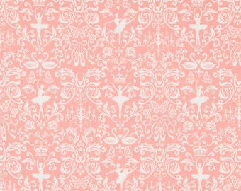 Cosmo Cotton Fabric  Ballerina AP55405-1BA on Pink