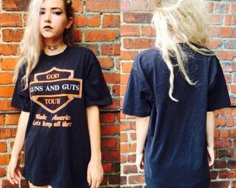 Vintage God Guts and Glory shirt