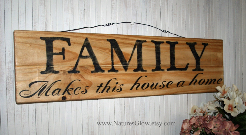 FAMILY Sign Family Sign Home Decor Family Wall By NaturesGlow