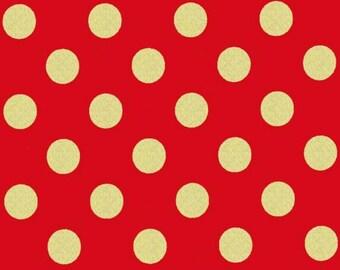 Michael Miller - Quarter Dot Pearlized in Cherry / Gold