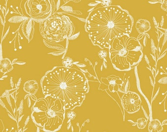 Art Gallery - Millie Fleur Collection - Line Drawings in Yellowed
