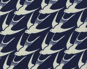 Cotton + Steel - Bluebird Collection - Flock in Indigo