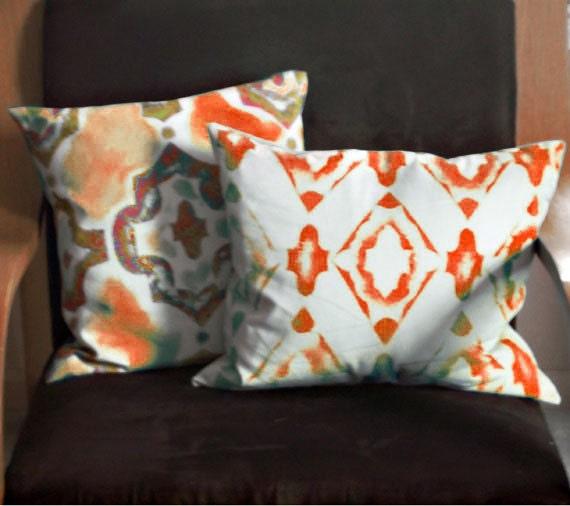 2 Throw Pillows, Throw Pillow Covers, One of a Kind Pillow Covers, Original Art Pillows, Sofa Pillows  Throw Pillows, Decor