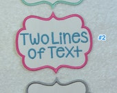 Personalized Two Line of Text Small Fabric Embroidered Iron On Applique Patch MADE TO ORDER