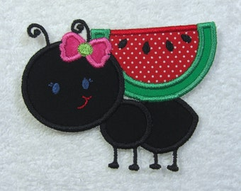 Picnic Ant Patch Fabric Embroidered Iron On Applique Patch Ready to Ship