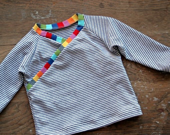 Baby Kimono Top - Wrap Shirt - Made to Order - TheLittleRooster