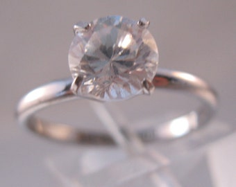 Vintage Ladies 1ct CZ Solitaire Engagement Ring Sterling Silver Signed Lind Size 7.5 Jewelry Jewellery FREE SHIPPING