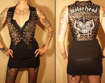 Kissin' Bombs studded Motorhead vest