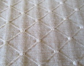 RESERVED FOR NATALIE: Beige Upholstery Fabric By The Yard - 1.50 yards Total