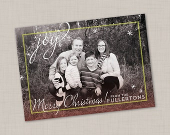 Sparkling Joy Holiday Card (Horizontal)