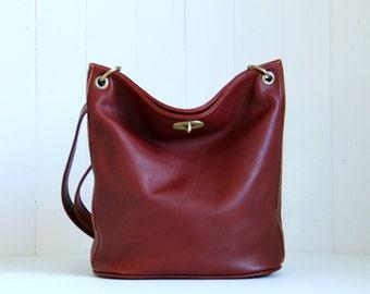 Brown leather bag / Brown leather shoulder bag