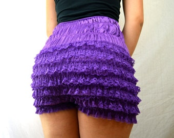 Vintage Purple Ruffled Rockabilly Bloomers