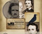 Edgar Allan Poe Tags Spooky Halloween Printable Digital Download