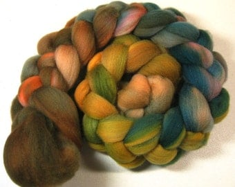 November 1 organic Polwarth for spinning and felting (4.1 ounces)
