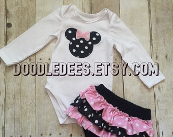 Minnie Bodysuit and ruffle butt bloomers