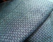Vintage fabric/material/over 3 yards/cotton/green/gray/Mermaid/scales/leaf/leaves/diamond/yardage/craft fabric/slate green/small pattern/sew