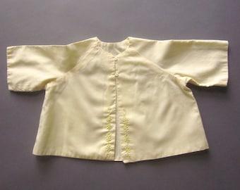 Vintage Handmade Baby Girl Jacket Kimono Embroidery