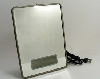 stand up vanity mirror with lights. Lighted Mirror Shaving Makeup Vanity Vintage Light Up  Countertop Stand mirror Etsy